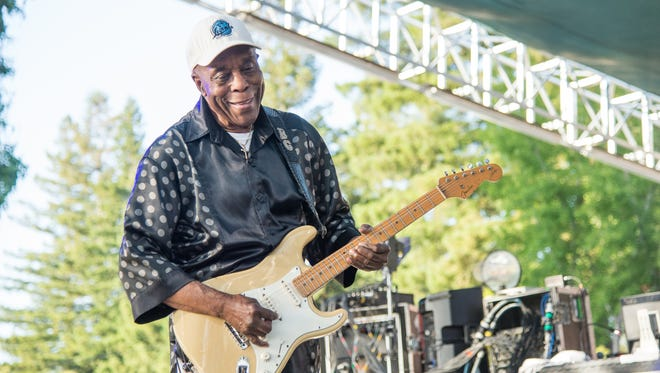 Buddy Guy performs at BottleRock Napa Valley Music Festival at Napa Valley Expo on Friday, May 27, 2016, in Napa, Calif.