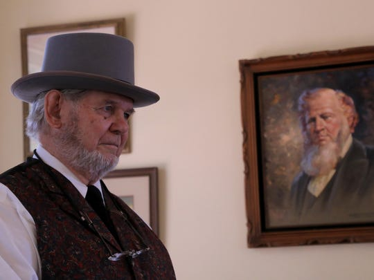 Joe Higgins plays Brigham Young on Saturday morning during the Historic St. George Live tour at the Brigham Young Home.
