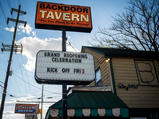 The Back Door Tavern held its grand re-opening on Friday,