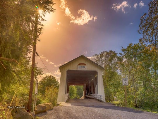 Grand Prize, Ed Peteros, as part of Marion County's Gallon House Bridge 100-year anniversary photo contest.
