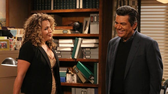 """Diana Maria Riva plays George Lopez's boss in FX's """"Saint George."""""""