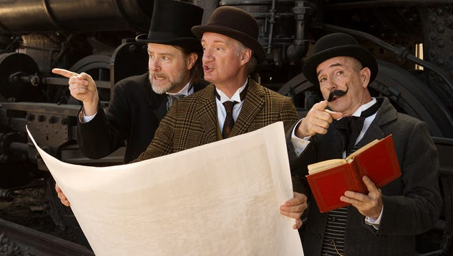 Mark Anders (from left), Bob Sorenson and Jon Gentry in the Arizona Theatre Company production of 'Around the World in 80 Days.'