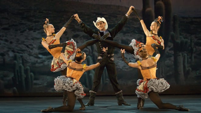 "George Balanchine's ""Western Symphony"" is part of this year's Ballet Under the Stars program."