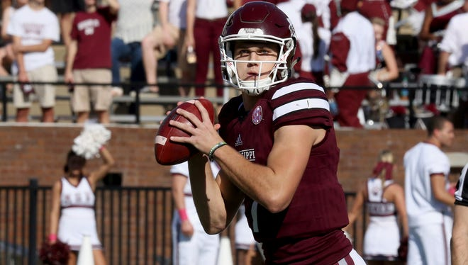 Mississippi State quarterback Nick Fitzgerald prepares for his first bowl start of his career.
