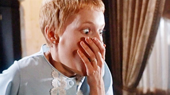 "Mia Farrow stars in a scene from ""Rosemary's Baby"" which played at the Plaza Theatre on Tuesday."