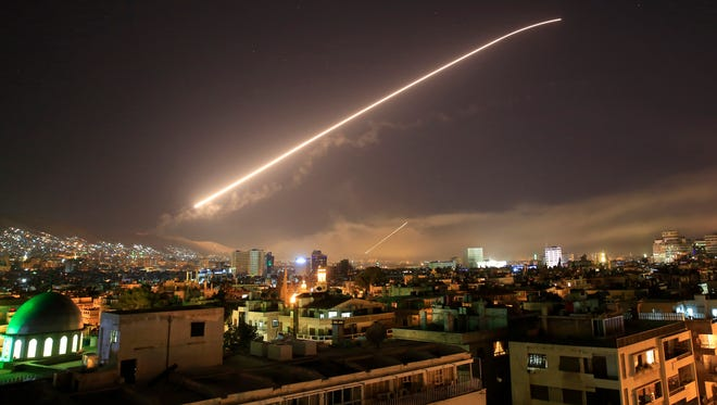 Missile fire lit up the Damascus sky last week  as the U.S. and allies  launched an attack on chemical weapons sites.