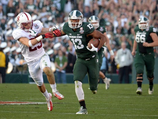 Michigan State Spartans receiver Bennie Fowler (13)