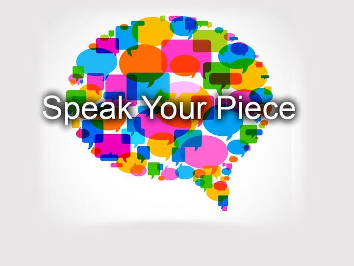 Speak your piece