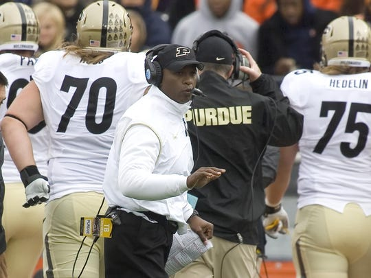 Purdue coach Darrell Hazell has not won a game in November in his first two years at the helm. The Boilermakers visit Iowa on Nov. 21.