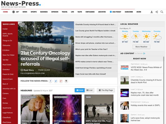 The News-Press website