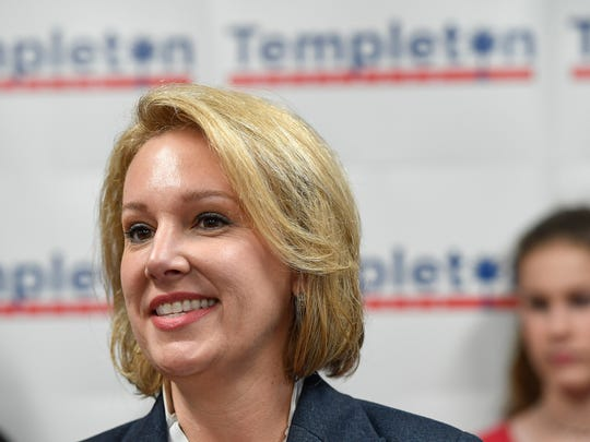 Gubernatorial Candidate Catherine Templeton kicks off her campaign during a press conference in Greenville on Monday, February 26, 2018.