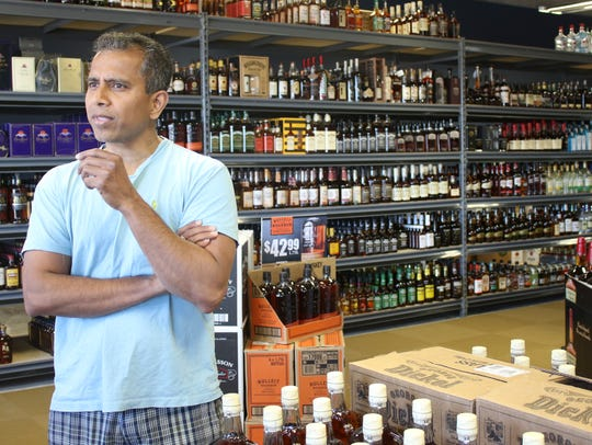 Caddy's Discount Liquors owner Ramesh Kasetty discusses