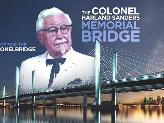 kfc parent yum wants col  sanders name on new bridge