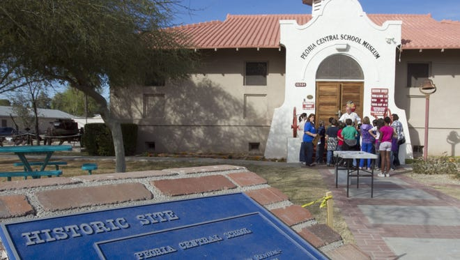 The historic Peoria Central School Museum building has been standing in Old Town Peoria since 1906. The Peoria Historical Society manages it, but since an internal dispute in May 2017 the museum has been closed.