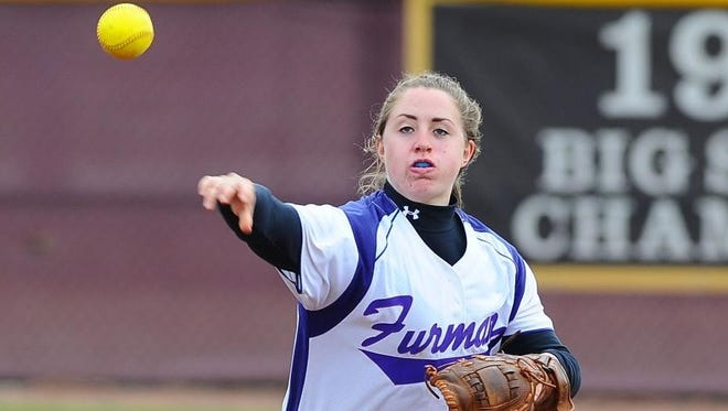 West Henderson graduate Sieara Bishop is a junior for the Furman softball team.