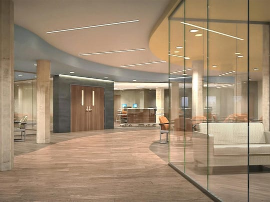 This architect's rendering shows how Broadlawns Medical Center's remodeled inpatient mental-health unit will look.