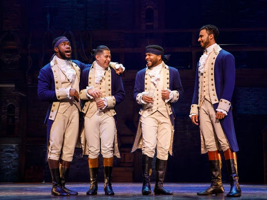 """""""Hamilton,"""" the Broadway hit, will be performed at Michigan State University's Wharton Center from May 14 to June 2."""