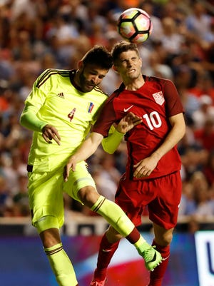 Christian Pulisic, right, and the Americans tied Venezuela 1-1 in a friendly last week in preparation for their next two World Cup qualifiers.