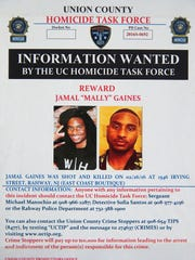 "Jamal ""Mally"" Gaines, 21, the owner of East Coast Boutique, a sneaker store, at 1546 Irving st. Gaines was shot outside the store Friday night and died at the scene. He had dreamed of becoming a business owner since childhood. No one has been arrested in connection with his death. His funeral was held on Thursday March 3, 2016 in Rahway."
