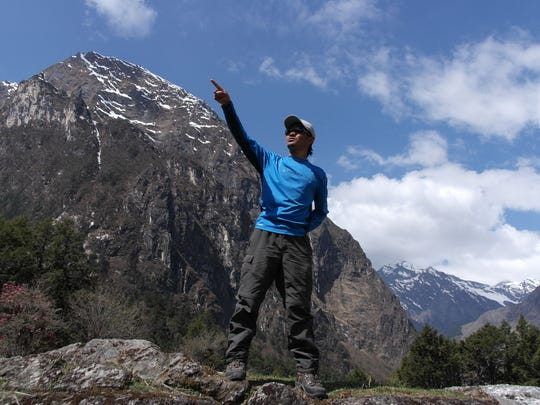 Pictured is Sune, whose village, Singla, was completely