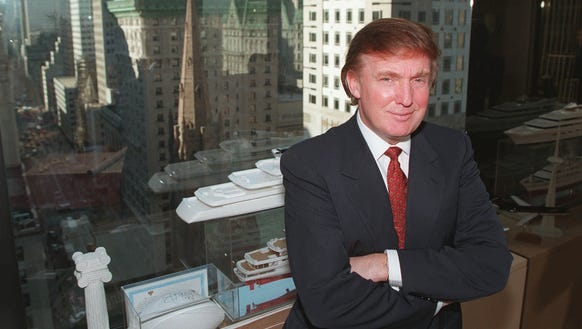 Donald Trump poses in his office in New York on Oct.