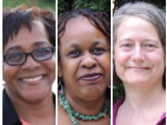 From left, incumbent Louise Parker, Donna Lightfoot Cooper and Barbara  Cohig, candidates for two Nyack village trustee seats in the 2016 election.