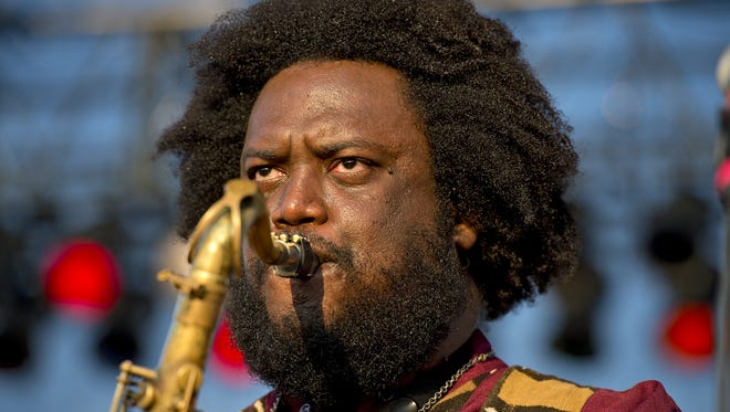 Saturday saw the second day of the MidPoint Music Festival in Over-the-Rhine. Kamasi Washington performs on the Skyline Stage.