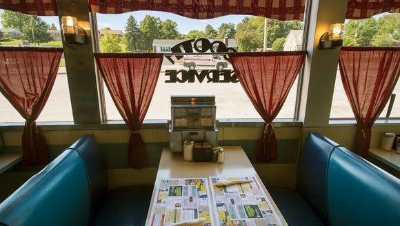 A booth at Lee's Diner in West Manchester Township.