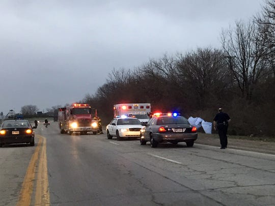 One person died in a crash Monday on Kentucky Avenue