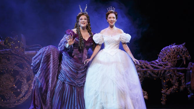 "Liz McCartney and Kaitlyn Davidson star in the tour of Rodgers & Hammerstein's ""Cinderella"" tour."