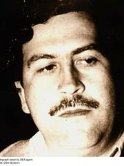 Pictured is drug lord Pablo Escobar
