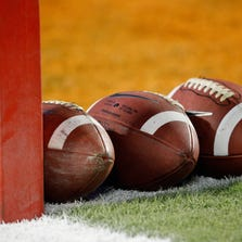 MIAMI GARDENS, FL - JANUARY 04:  A detail of a Nike official NCAA size footballs as they sit in the end zone prior to the West Virginia Mountaineers playing against the Clemson Tigers during the Discover Orange Bowl at Sun Life Stadium on January 4, 2012 in Miami Gardens, Florida.  (Photo by Streeter Lecka/Getty Images)