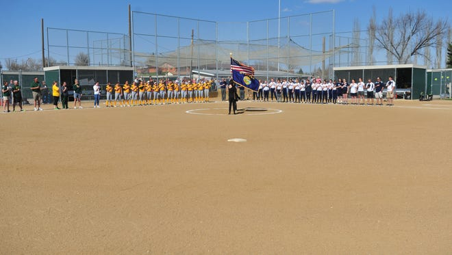 Crosstown softball game between Great Falls High and CMR on Thursday at Multi-Sports Complex.