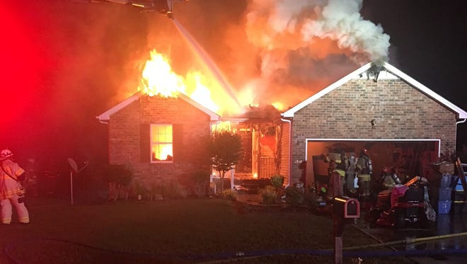 Murfreesboro Fire Rescue responded to a house fire at 1319 Dodd Trail just before 4:00 a.m. Saturday.