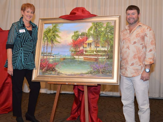 ArtFest Fort Myers director Sharon McAllister poses