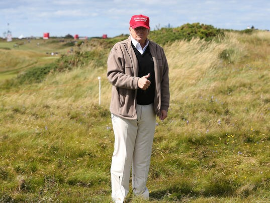 Trump to face protesters when he re-opens U.K. golf course