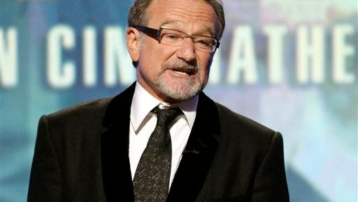 In this file photo, actor Robin Williams speaks at The 24th American Cinematheque Awards in Beverly Hills, Calif. The reaction to Williams' death in August 2014 topped Google's list of the year's fastest-rising search requests.