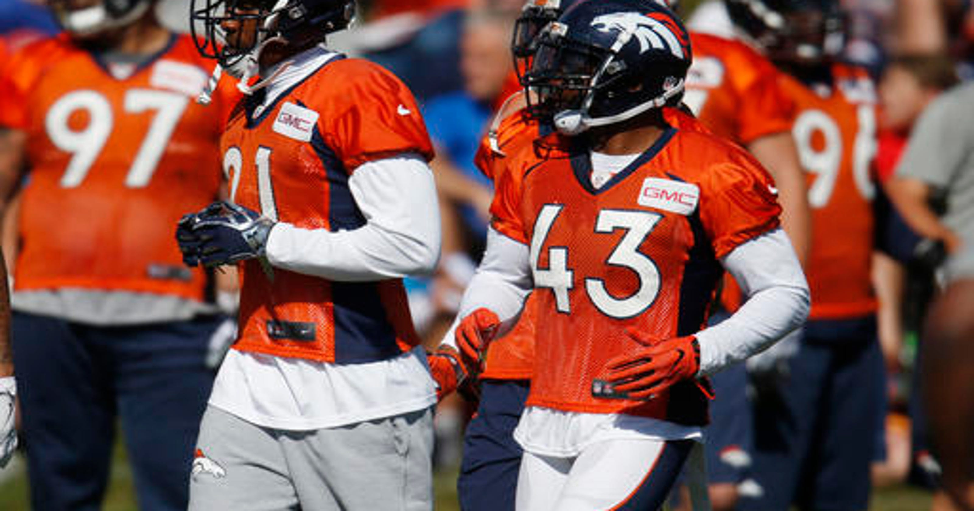 Broncos cornerback Aqib Talib makes training camp debut b6d4fa2a7