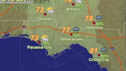 Tallahassee Weather for May 15, 2014