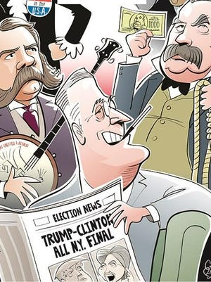 An illustration of U.S. presidents from New York