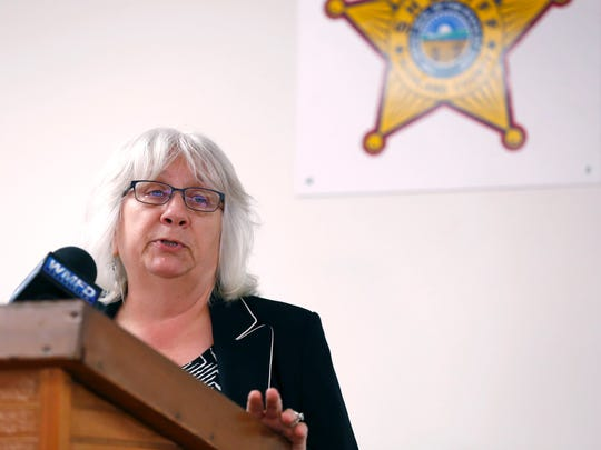 Richland County Prosecutor  Bambi Couch Page speaks with the media about the indictment of Walter Renz over the murder of Patsy Hudson. Authorities made the announcement after positive identification of Hudson's body.