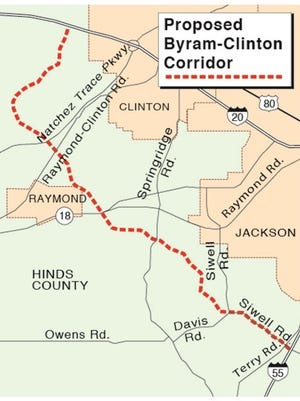 The proposed roadway would connect Byram and Clinton in Hinds County.