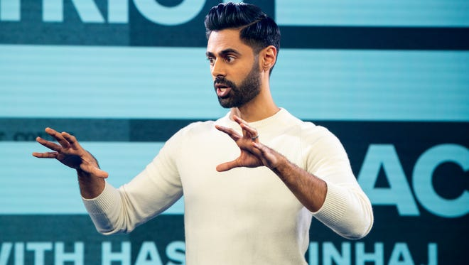"""Hasan Minhaj, 33, is the host of ambitious new comedy show """"Patriot Act with Hasan Minhaj."""""""