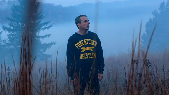 "Steve Carell stars in ""Foxcatcher."""