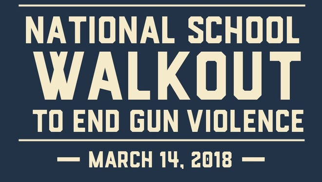 The #ENOUGH: National School Walkout will occur at 10 a.m. local time Wednesday, March 14, in schools across the country, including the Helen Thackston Charter School.