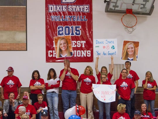 Family and friends of Alex Anderson celebrate Senior