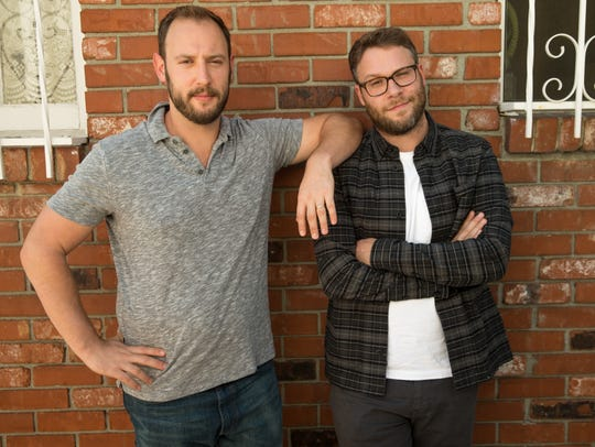 Seth Rogen and writing partner Evan Goldberg promote