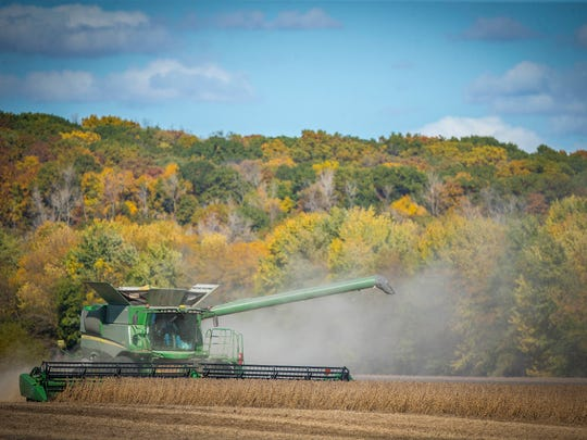 Average statewide Iowa farmland values climbed 2.3% to $7,432 an acre in 2019, an Iowa State University survey shows. Low interest rates, limited supplies and strong yields helped boost prices. Values still remain about 15% below a 2013 high, the survey shows.
