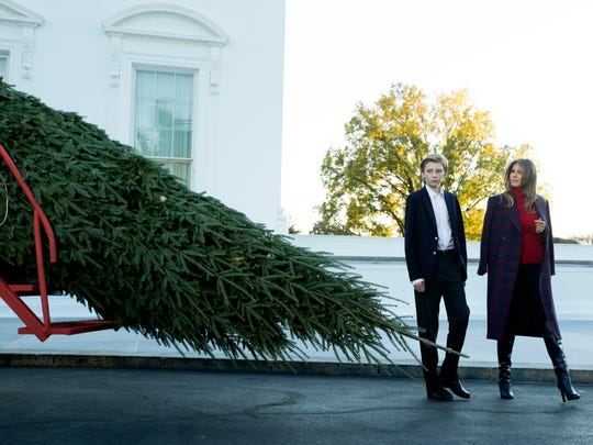Barron Trump in the spotlight for holidays at White House