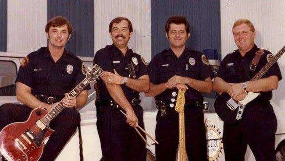 "The Blue Lites, from left: Britt Stewart, Charles ""Chuck"" Head, John Smith and Rick Willis"
